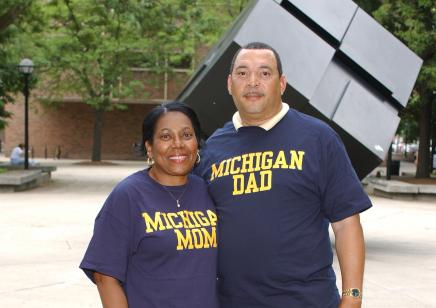 A pair of University of Michigan Parents