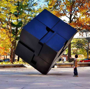 the cube sculpture