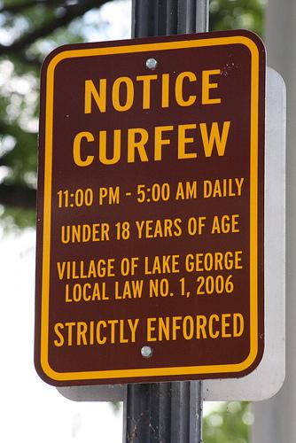 curfew sign