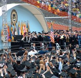 Graduation at the Michigan Stadium