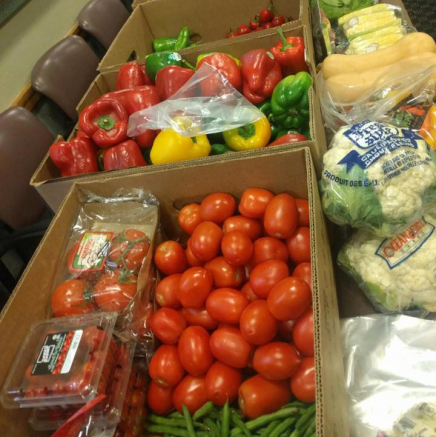 Fresh vegetables at the Maize and Blue Cupboard