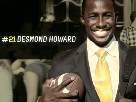 Desmond Howard stays in the blue