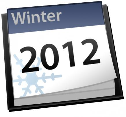 Winter calendar icon