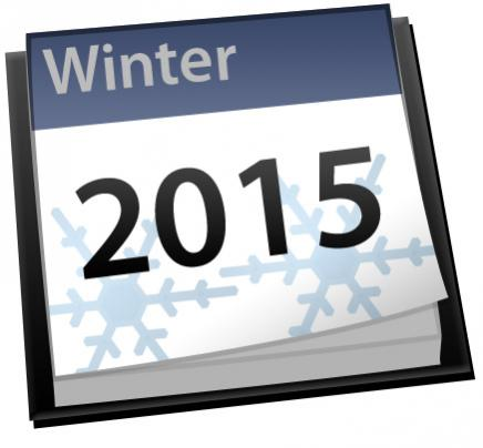 Winter 2015 calendar icon